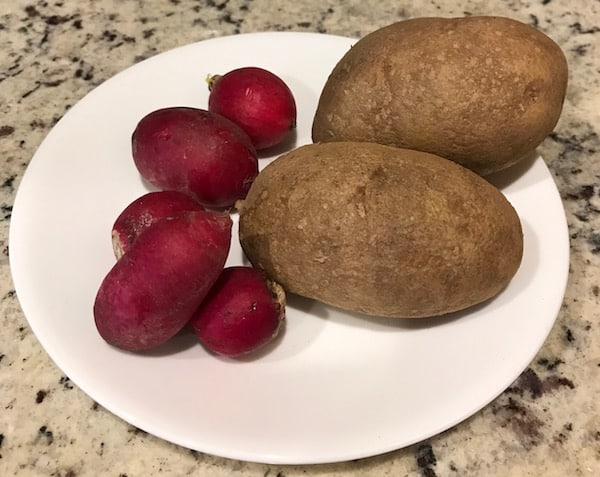 Radishes mimic potatoes when cooked.