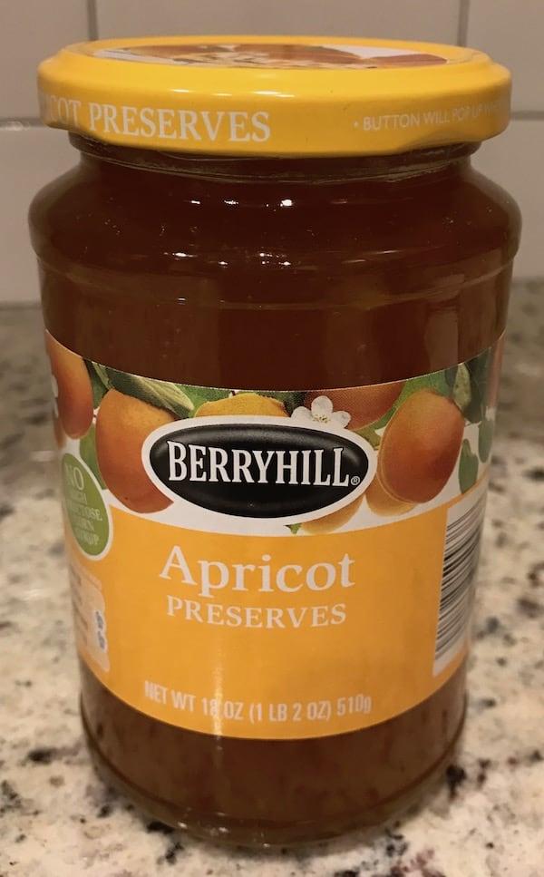 Jar of apricot preserves