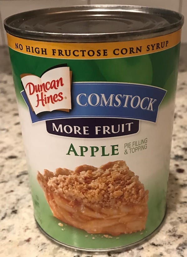 Can of apple pie filling