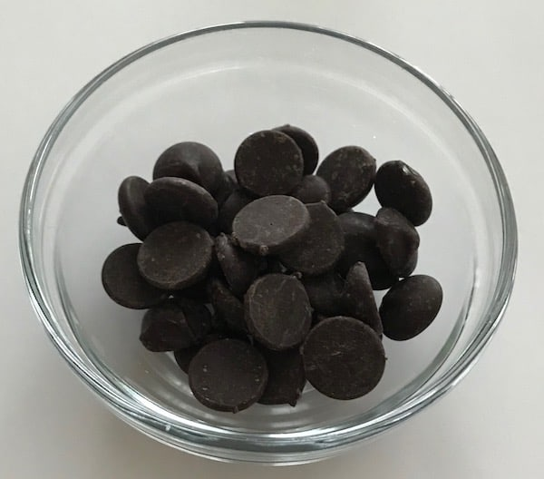 Small bowl of chocolate chips