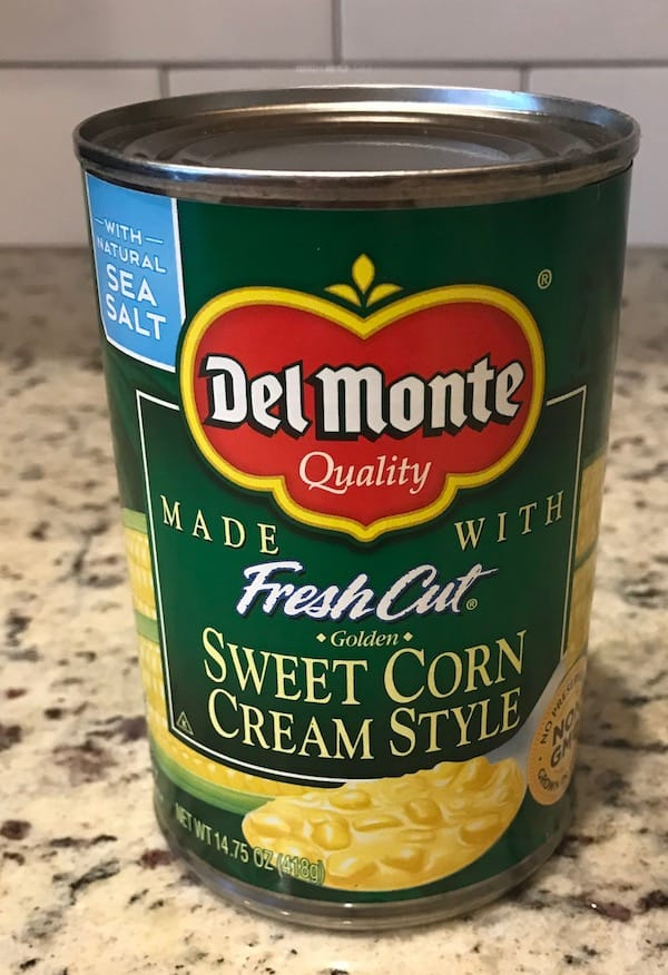 Can of sweet cream style corn