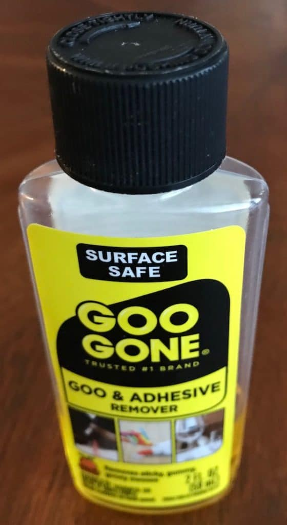 Goo Gone adhesive remover