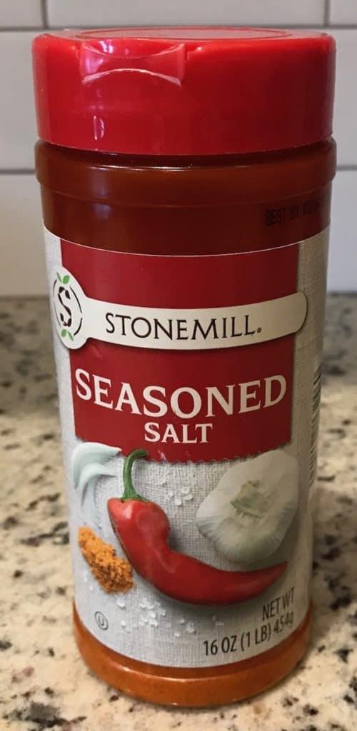 Bottle of seasoned salt