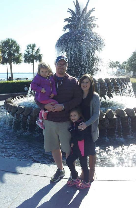 Pineapple Fountain on the Charleston, SC, waterfront