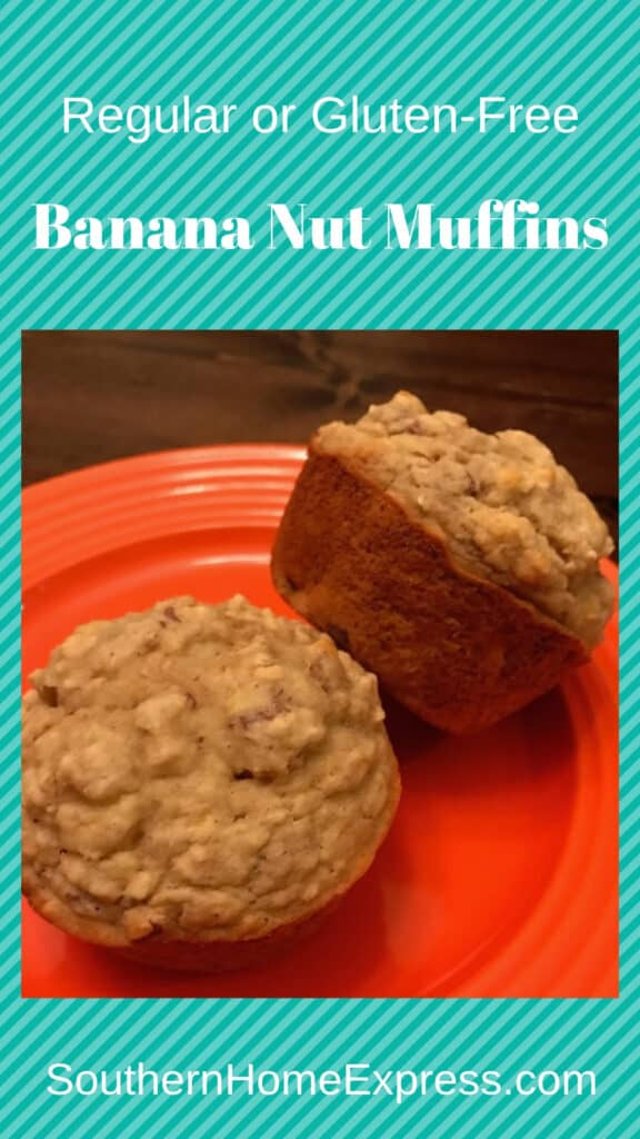 Banana nut muffins are a delicious treat any time.