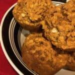 Bowl of pumpkin muffins