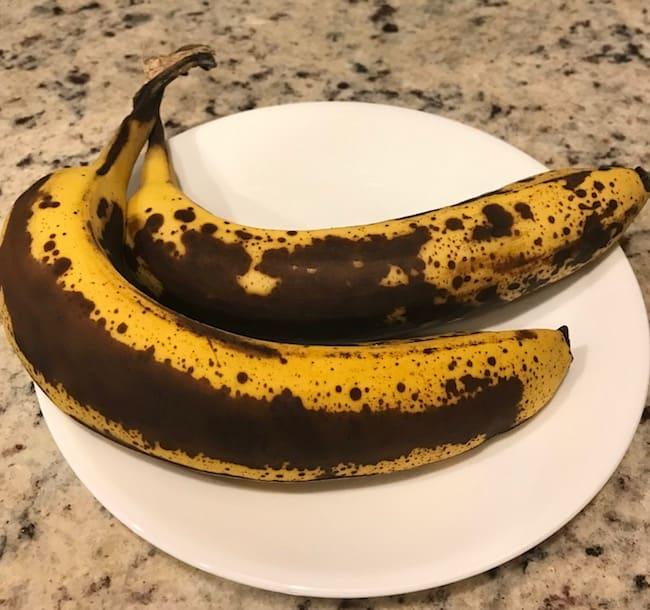 2 overripe bananas