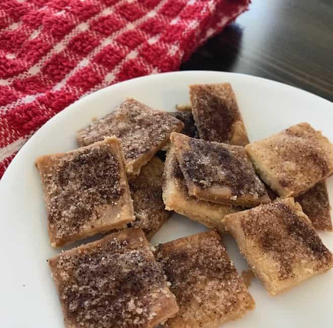 Cinnamon crisps are the perfect snack.