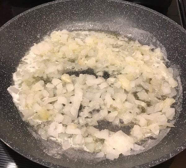 Saute onions.