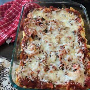 Italian chicken zucchini penne casserole