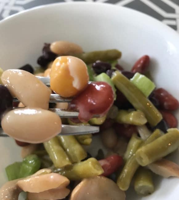 Fork of five bean salad