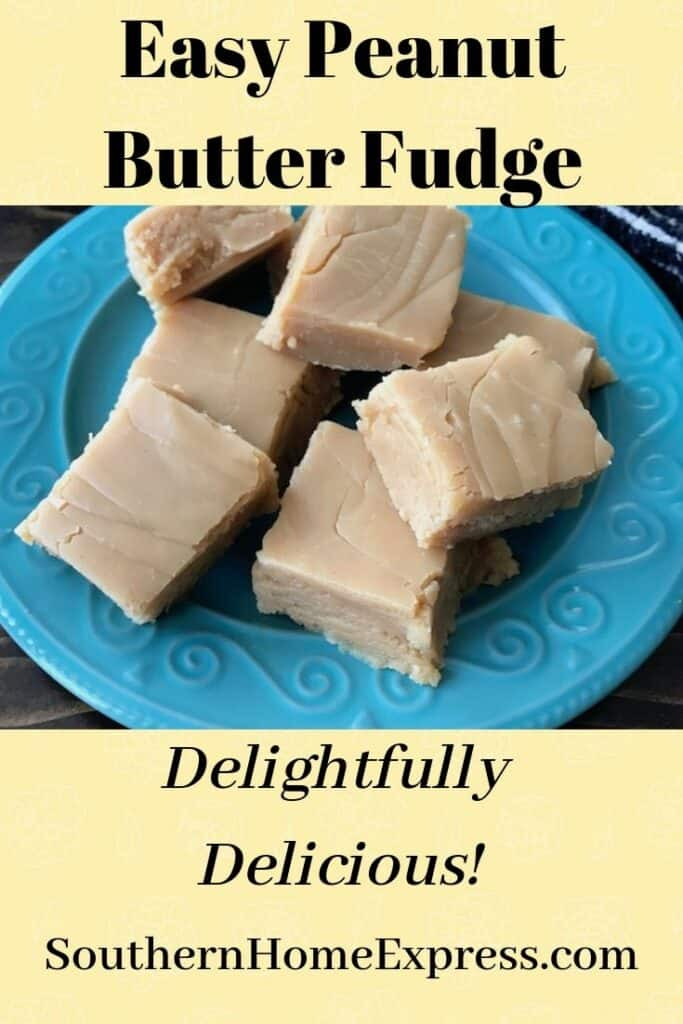 This easy peanut butter fudge is delightfully delicious.