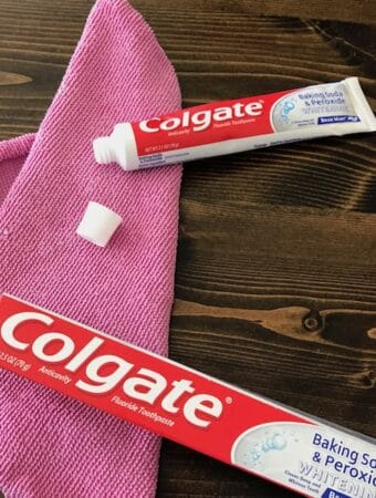 If you have toothpaste and a rag, you can solve a lot of problems.