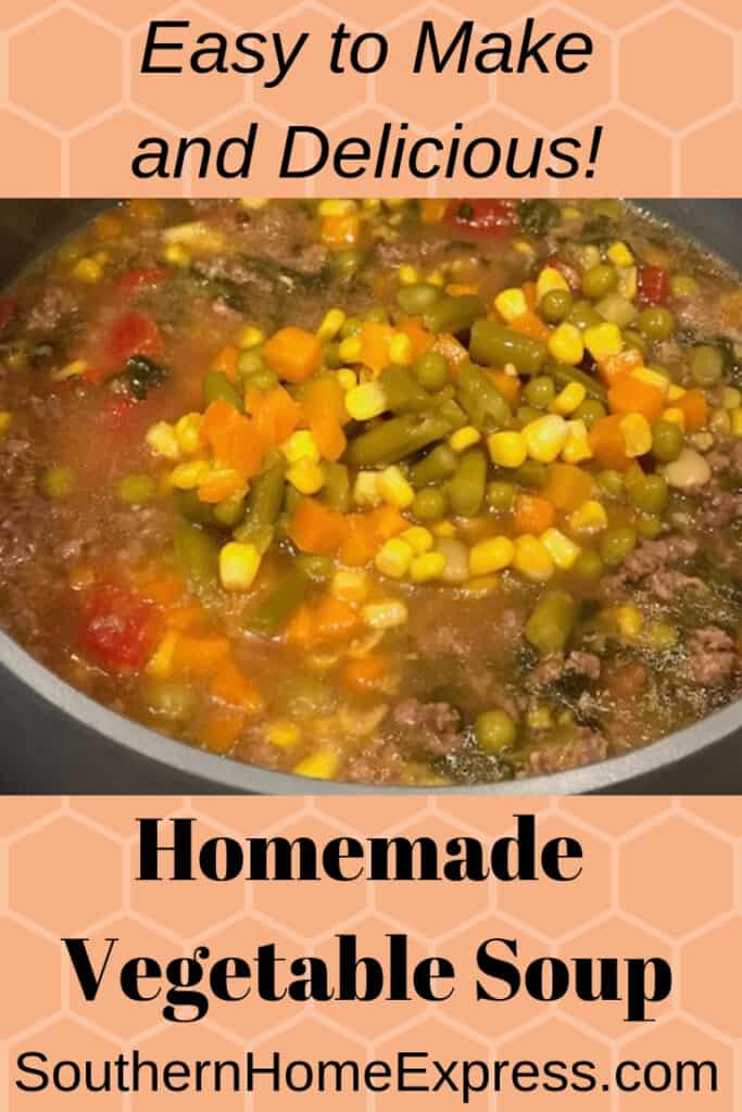 This homemade vegetable soup has a secret ingredient that makes it irresistible.