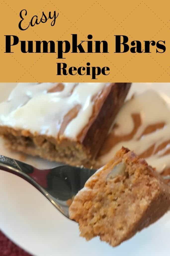 Easy pumpkin bars recipe