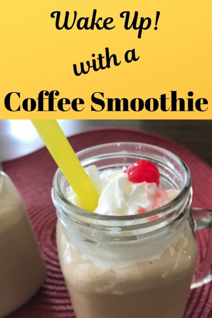 Wake up with a coffee smoothie