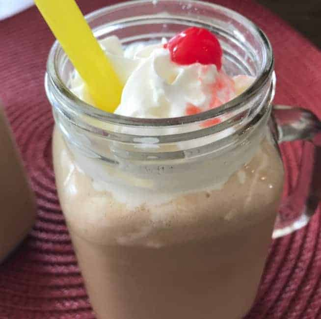 Coffee Smoothie with a Cherry